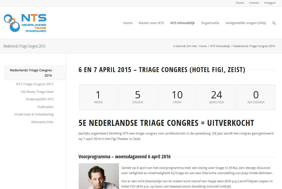 7 april 2016: Nederlands Triage Congres Zeist